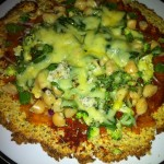Cauliflower pizza base 006